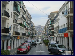 Altea City Centre - Carrer Comte d'Altea is part of the N-332 road to Benidorm, it goes right through the city.