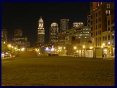 Downtown Boston at night