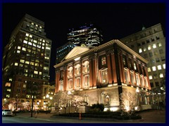 Downtown Boston by night