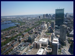 Boston skyline from the Prudential Tower