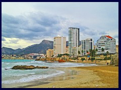 Calpe New City Centre 16 - Skyline of Morello district from Playa del Cantal Roig