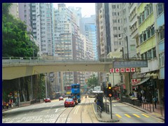 King's Road, Causeway Bay, a main thouroughfare for trams.