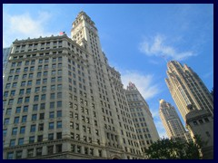 Chicago Architecture Foundation Boat Tour 05 - Wrigley Bldg and Tribune Tower