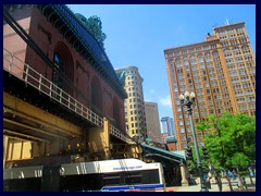 Harold Washington Library and Fisher Bldg