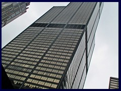 Sears Tower (Willis Tower) - tallest building in the world 1973-1998. 527m tall to the antenna, 108 floors.