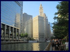 Chicago Riverwalk 031 - Wrigley Bldg, Tribune Tower (right)