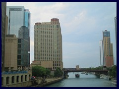 Michigan Avenue  - Chicago River with Sheraton Hotel