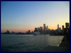 Chicago at sunset - Navy Pier 03  - Downtown skyline