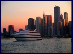 Chicago at sunset - Navy Pier 04  - Downtown skyline