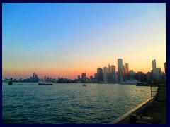 Chicago at sunset - Navy Pier 06 - Downtown skyline