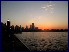 Chicago at sunset - Navy Pier 13 - Skyline view
