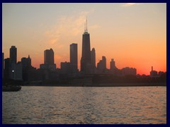 Chicago at sunset - Navy Pier 14 - Skyline of Magnificent Mile