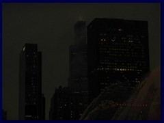Chicago by night - Sears Tower from Grant Park 11