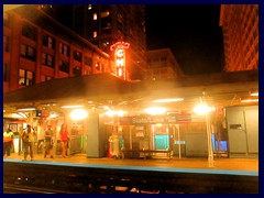 Chicago by night - the Loop 07 - State/Lake L train station