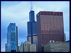 Skyline from Grant Park 11 - Sears Tower, CNA Center