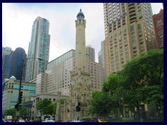 Skyline from Streeterville, street level 05  -Odl Water Tower, Magnificent Mile