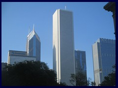 Skyline from the Loop, street level 16 - Aon Center, (Amoco Bldg), Chicago's 3rd tallest building