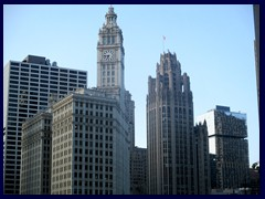 Skyline from the Loop, street level 24 - Historic Wrigley Bldg, Tribune Tower