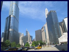 Skyline from the Loop, street level 43 - Trump Tower, Magnificent Mile