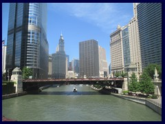 Skyline from the Loop, street level 45 - Chicago River