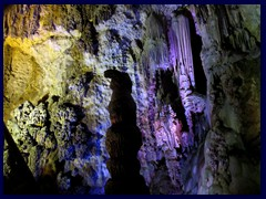 Cuevas de Canelobre  - the caves are illuminated in beautiful colours.
