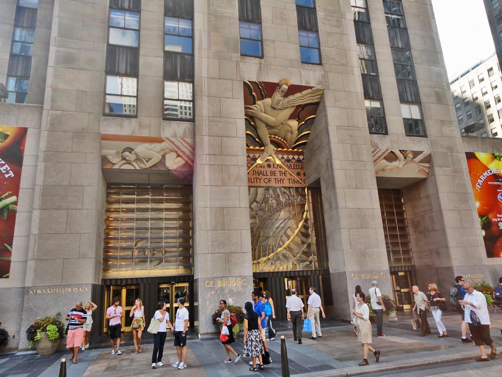 New York Rockefeller Center Ge Building Avenue Of The