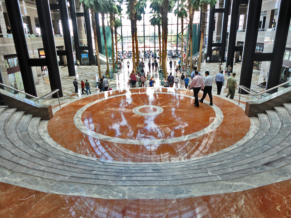 The Marble Floor May Look Shiny, But On 9/11 People Jumped From The WTC  Towers, Crashed Through The Glass Roof Of Winter Garden, And Were Killed  When ...
