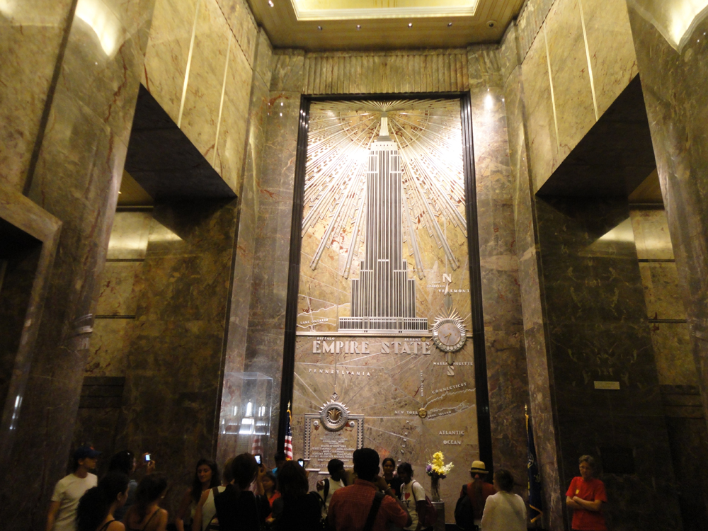 New york nightskys trip in august 2011 skyscrapercity for Empire state building art deco interior