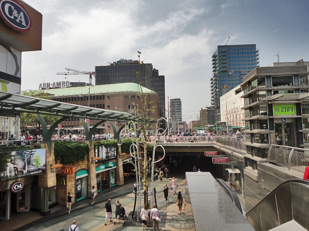 Rotterdam - City center, Coolsingel, Beursplein