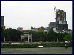 The highrises of Liwan district surrounds Ancestral Temple of the Chen Family.
