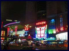 Tianhe Road with large shopping malls, restaurants and entertainment.
