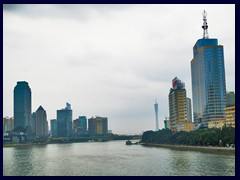 From the left: Tianhe, Pearl River, Canton Tower and Haizhu.