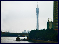 Canton Tower, here seen from the bridge above Pearl River, is part of the Haizhu district. See the Canton Tower section for more photos and info.