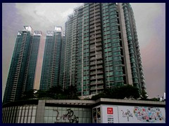 Metropolitan Plaza, shopping mall and residential highrises near Hazhu Square.