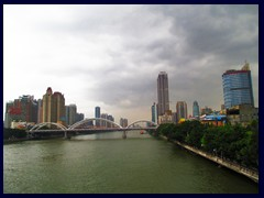 Yuexiu district seen from Haizhu Bridge above Pearl River.