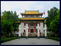 Dr Sun Yat-sen Memorial Hallis an octagon-shaped building between People's Park and Yuexi Park. It was built by funds raised by people in memory of Sun Yat-sen. It was built 1929-31 and has a stage with a capacity for 3240 people. Having been severely damaged it was repaired and improved several times until 1998.