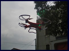 A man was playing with this drone above the traffic, Zhongshan Road, Yuexiu district.
