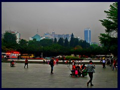 Martyr's Park and Yuexiu skyline.