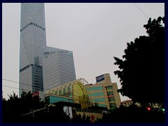 China International Center (62 floors, 269m, built 2007) and China Plaza shopping center.