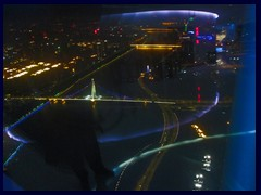 View from Canton Tower's observation deck at night.