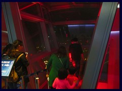 Glass walk, Canton Tower's observation deck at night.