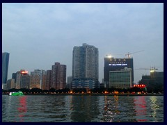 Pearl River and Huzhou district seen from Restaurant Rose Garden.