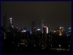 Guangzhou night skyline from our hotel room at the Yutong Hotel.