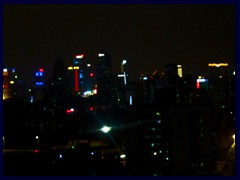 Guangzhou night skyline from our hotel room at the Yutong Hotel