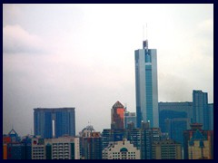 Guangzhou skyline from our hotel room at the Yutong Hotel: CITIC Plaza in Tianhe district.