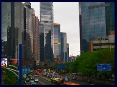 Tianhe district seen from the overpass at Gangding.