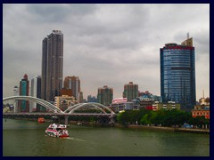 View of Haizhu district from a bridge above Pearl River.