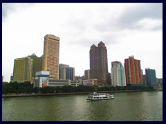 View of Yuexiu district in central Guangzhou from a bridge above Pearl River.