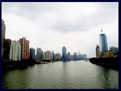 View of Yuexiu distric and Haizhu district in central Guangzhou from a bridge above Pearl River.