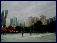 Liwan district, Western part of Central Guangzhou, seen from the entrance to Chen Clan Academy.